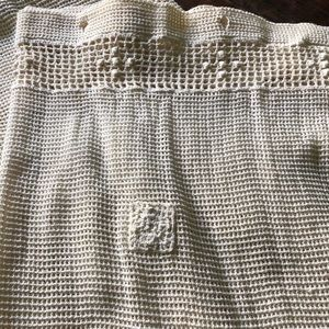Vintage Accents - Vintage bohemian crocheted lace curtains two panel
